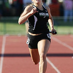 Sarah Carpenter anchors Highland's 4×100 relay team at the OHSAA state championship. photo by Ray Riedel