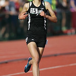 Medina Highland's Carlee Rhoads places 2nd in the 3200m run at the OHSAA state championship. photo by Ray Riedel