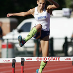 Brunswick's Gabby Maslowski runs the 300m hurdles prelim at the OHSAA state championship. photo by Ray Riedel