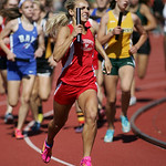 Wadsworth's Leah Runkle pours it on, bring Wadsworth from last place to leading the pack in the 2nd leg of the 4x800m final -an effort that got the team on the podium for 6th place. OHSAA st …