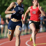 Lorain's Jocelynn Rogers places 6th in the 200m at the OHSAA state championship. photo by Ray Riedel