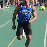 Richie Norman of Brunswick runs in the boys 100 meter dash. STEVE MANHEIM/CHRONICLE