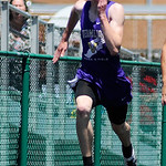 Vermilion's Kole Johnson races in the boys 100m dash. KRISTIN BAUER | CHRONICLE