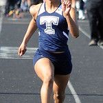 Andresja Dearmas of Lorain runs in the girls 100 meter dash preliminaries. STEVE MANHEIM/CHRONICLE