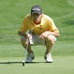 Ryan Sikora of Avon on hole 12 at the Pioneer Invitational at Forest Hills Country Club.  photo by Chuck Humel
