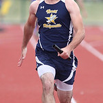 Paul Sonego, right, of North Ridgeville battles to the finish of the 4x100m prelim race at the OSHAA state track meet in Columbus. photo by Ray Riedel