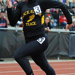 Black River's Makayla Koerner places third in the girl's 100m sprint on Thursday. KRISTIN BAUER | CHRONICLE