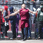 Avon Lake's Max Seipel throws the discus at the Avon Lake Invitational Meet. photo by Ray Riedel