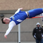 Midview's Jeff Ondo clears the bar at the Avon Lake Invitational Meet. photo by Ray Riedel