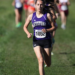 12Oct13_Shannon Wargo of Keystone is in second place near the 1 mile mark of the PAC cross Country championship at Buckeye High School. Teammate Jena Copley is right behind her. photo by Ray …