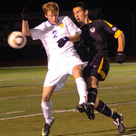 10-27-11 linda murphy</p> <p>Avon&#039;s #2 John Demarco &amp; #14 Marcus Schmitz fight for the ball.
