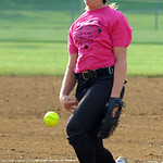 Emily Cornish pitches in the all-star game. STEVE MANHEIM/CHRONICLE