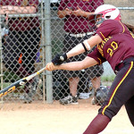 Avon Lake's #20 Alexis Thomas gets a hit.