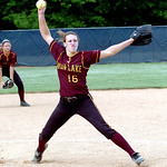 Avon Lake's pitcher #16 Annie Wennerberg.