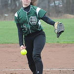 EC pitcher Kasey Bilancini in game 1 Apr. 14.  Steve Manheim