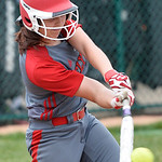 Elyria's Kelsey Plato hits an RBI single in the eighth inning against Oregon Clay. DAVID RICHARD / CHRONICLE