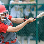 Kaitlyn Laseke hits a two-RBI double in the sixth inning. DAVID RICHARD / CHRONICLE