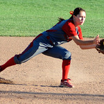 Elyria High School second baseman Mackenzie Phares fields a ground ball. KRISTIN BAUER | CHRONICLE