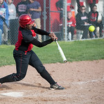 Elyria's Alexis Roseboro hits a home run in the bottom of the sixth inning Monday against Medina.
