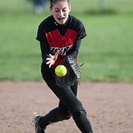 Elyria shortstop Marie Masters fields a groundball in the top of the fifth inning Monday against Medina.