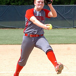 Elyria's starting pitcher #27 Caitlyn Minney.