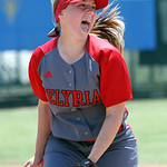 ANNA NORRIS/CHRONICLE<br /> Elyria pitcher Elizabeth Ellis rejoices after striking out the final Brecksville batter and winning the Division I regional championship game 4-0 Saturday afternoon at  &#8230;