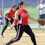 Firelands pitcher Samantha Dostall May 22. Steve Manheim