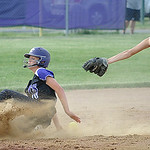 Keystone Julie Plas steals second base before ball reaches Firelands Brittany Reising in third inning May 22. Steve Manheim
