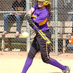 Avon's #3 Anna Edwards gets a hit.