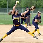 North Ridgeville's starting pitcher #7 Kailey Demarco.