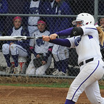 Keystone's Destiny Weber hits an RBI single in the first inning. STEVE MANHEIM/CHRONICLE