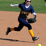 North RIdgeville's Megan Hokanson runs toward a ground ball. STEVE MANHEIM/CHRONICLE