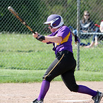 Avon's Emily Rogers gets a base hit against Elyria. ANNA NORRIS/CHRONICLE