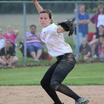Amherst shortstop Sarah Miller makes a play at short. CHRISTY LEGEZA/CHRONICLE