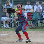 Elyria third baseman Dierra Hammons makes a play to end the game. CHRISTY LEGEZA/CHRONICLE