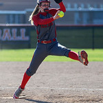 Carly Bachna comes in as Elyria's third pitcher during the fourth inning against Brunswick on Tuesday, April 23. KRISTIN BAUER | CHRONICLE