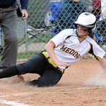 Medina's Sami Holzman scores in the second inning. STEVE MANHEIM/CHRONICLE