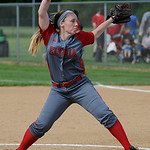 Elyria's Elizabeth Elli pitches against Midview.  KRISTIN BAUER | CHRONICLE