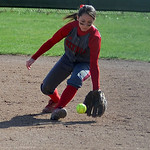 Elyria's second baseman Mackenzie Phares fields a ground ball. KRISTIN BAUER/CHRONICLE