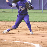 Keystone shortstop Summer Constable makes a play to get the out at first. CHRISTY LEGEZA/CHRONICLE