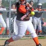 Buckeye senior Chrissy Nichols bats against Keystone. KRISTIN BAUER | CHRONICLE