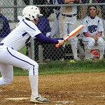 Keystone's Lauren Shaw hits a sacrifice bunt in the second inning. STEVE MANHEIM/CHRONICLE