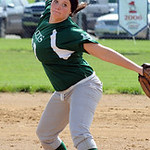 Cloverleaf's Sierra Pickett pitches. STEVE MANHEIM/CHRONICLE