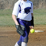 Keystone's Lauren Shaw had two strikeouts in the shut out. STEVE MANHEIM/CHRONICLE