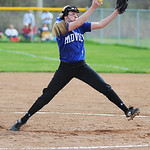 Midview's Lauren Landers pitches against Avon. KRISTIN BAUER | CHRONICLE