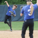 Midview'sTrish Koleski makes the throw to home against Westlake. BRUCE BISHOP/CHRONICLE