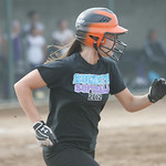 Buckeye's Hannah Hartley hustles to first base. photo by Chuck Humel
