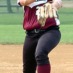 Wellington pitcher #28 Olivia Wulfhoop.