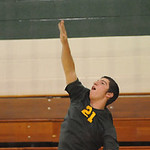 Anthony Eliopoulos of Amherst boys volleyball Apr 30.  Steve Manheim