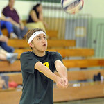 Zach Sroka of Amherst boys volleyball Apr. 30.  Steve Manheim